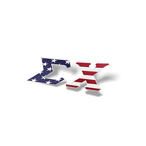 Sigma Chi USA Letter Sticker Decal Greek 2 Inches Tall for Window Laptop Computer Car Sig Chi