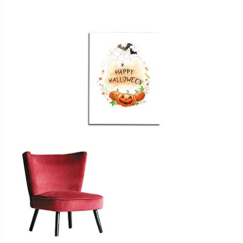 Wall Sticker Decals Watercolor Painting Happy Halloween Frame Mural 24