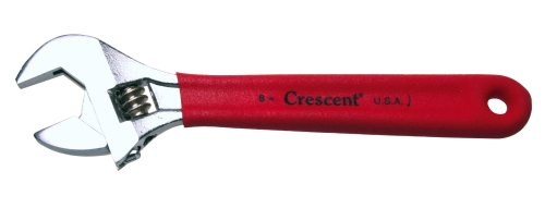 8in Chrome Angle Wrench (Crescent Adjustable Wrench with Cushioned Grip 8 Inch)