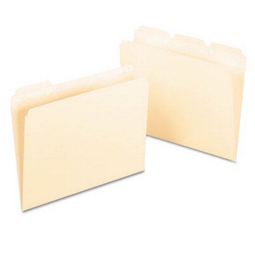 Pendaflex Ready-Tab File Folders,3 Tab Position,Letter,50/BX,Manila (42336)