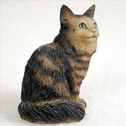 (Conversation Concepts Miniature Brown Tabby Maine Coon Cat Tiny One Figurine (Set of 6))