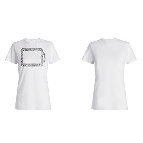 Leere Batterie Neuheit Ney Lustige Kunst Damen T-shirt c754f