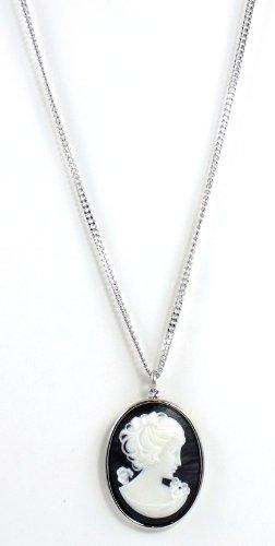 Necklace Tarantino Black Tarina (Tarina Tarantino Jewelry Iconic Black Cameo Necklace)