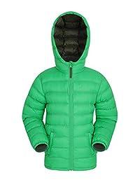 Mountain Warehouse Seasons Boys Jacket - Kids Winter Rain Coat Green 5-6 years