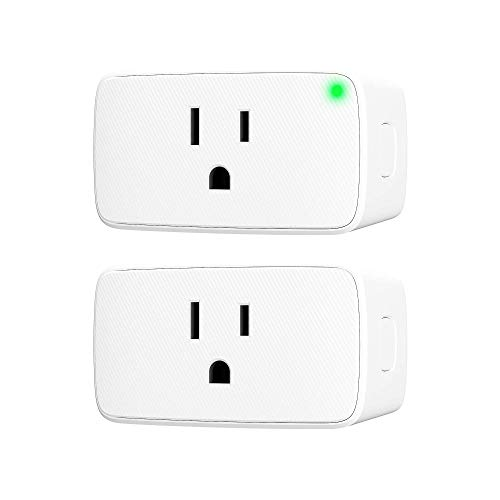 VOCOlinc Smart Plug Wi-Fi Mini Outlet Socket Works with HomeKit (iOS12 or +) Alexa & Google Assistant Timer No Hub Required 15A 1800W 2.4GHz Smartbar (2 Pack)