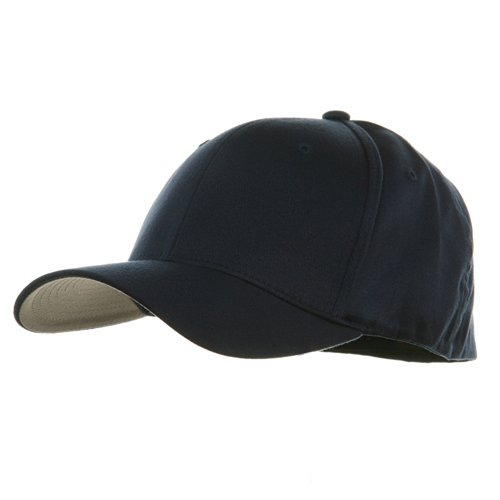 Extra Big Size Flexfit Cap-Navy W07S42D Wooly Combed Twill by Yupoong