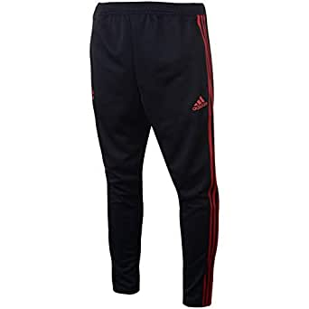 Adidas Weft knitted Manchester United 1/1 Sports Pant for Men - Black/Blaze Red CW7614 M