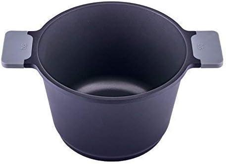 TVS Pastatopf eccellente cast aluminium incl glass lid /Ø 24cm 5,9 litre black