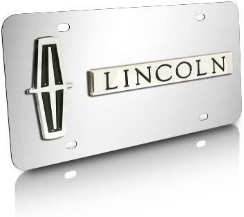 Lincoln Black Acrylic License Plate with Chrome Frame Kit