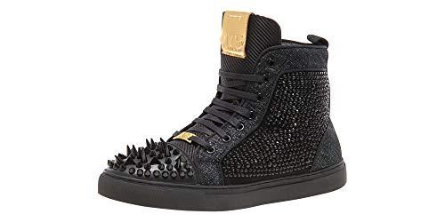 (Jump J75 Carthage Black Denim High Top Spiked Sneaker 15 D US Men)