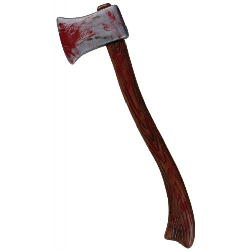 Fun World Unisex-Adult's Bloody Axe Costume Accessory, White, Standard