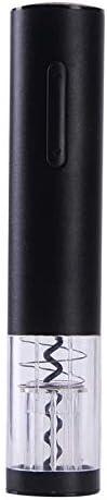 Black Cloverclover Electric Wine Bottle Opener Rechargeable Stainless Steel Bottle Opener