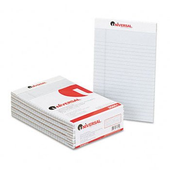 Universal® Fashion Colored Perforated Ruled Writing Pads PAD,LGL RULD,PERF,5X8,GY 21097797 (Pack (Fashion Colored Perforated Ruled Writing)