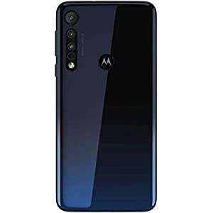 "Motorola Moto One Macro (64GB, 4GB) 6.2"", Macro Vision Camera (5X Closer) Dual SIM GSM Unlocked (AT&T/T-Mobile/MetroPCS/Cricket) XT2016-2 International Model (Space Blue, 64GB + 64GB SD + Case Bundle)"
