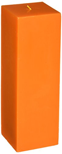 (Zest Candle Pillar Candle, 3 by 9-Inch, Orange Square)