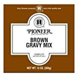 Pioneer Brown Gravy Mix, 6.5 Ounce - 12 per case.