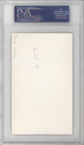 "Julius""Dr. J"" Erving Autographed 3x5 Index Card 76ers, Nets #83811669 PSA/DNA Certified NBA Cut Signatures"