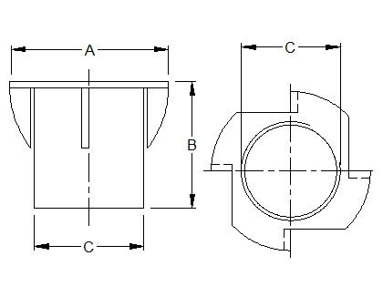 Stahlm/öbelbefestigungen M6 Packung mit 25 Metall-T-Nuten Sicherungsmuttern M6 M8 und M10 1 Gewinde-Verl/ängerungseins/ätze f/ür Holz