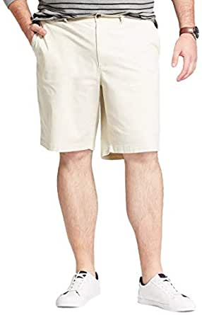 "Goodfellow & Co Men's Big & Tall 10.5"" Linden Flat Front Chino Shorts - Off-White - 50"