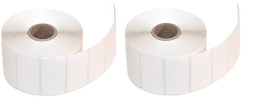 CompuLabel Direct Thermal Labels, 2-Inch x 1 Inch, White, Roll, Permanent Adhesive, Perforations Between Labels, 1300 per Roll, 12 Rolls per Carton (530550) (2 X Pack of 12) -