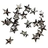 50 Pieces Star-Shaped Studs with Spikes - Gun Metal Hand Pressed 10mm Nail Head Rivets - Suitable for Leather Crafting, Decorating Clothes, Jackets, Belts, Footwear, and Bags