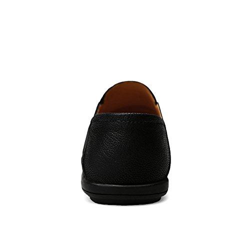 para de Plana 42 tamaño Suela Color holgazán Antideslizante EU Estilo Marrón Mocasines Planos Ocio con Negro diseño amp;Baby con de Sunny Hombre Zapatos fqFtw8