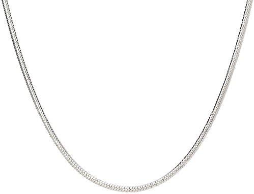 925 Sterling plata collar cadena 3mm singapur diamantado 50cm