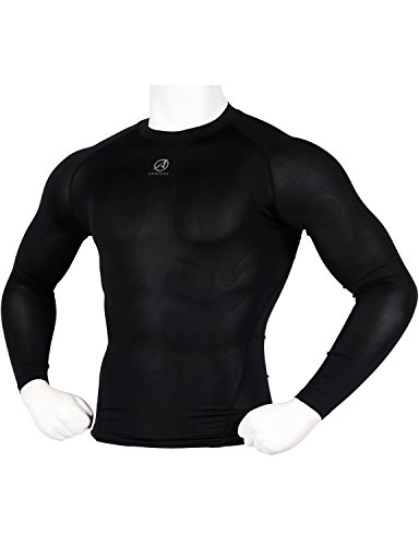 ARMEDES Mens Compression Quick Dry Baselayer Activewear Light Weight Long Sleeve T-Shirt