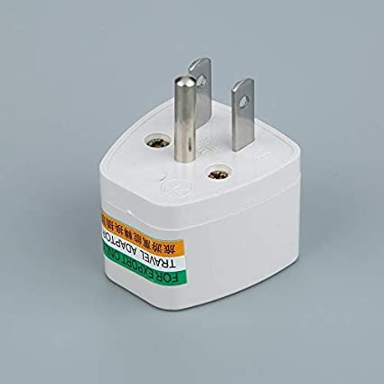 SeniorMar Universal AU UK US to EU AC Power Plug Adapter Adapter Converter Outlet Home Travel Wall AC Power Charger White
