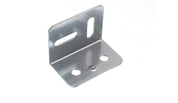 Round End 4 Hole Black VNDEFUL 20 PCS Stainless Steel Corner Brace Joint Right Angle Bracket Fastener 40mm x 40mm x 17mm
