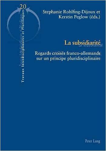 Subsidiarité: Regards Croisés