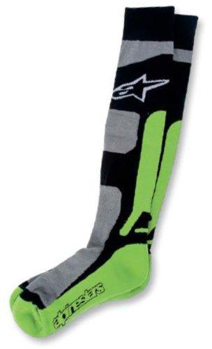 Alpinestars Tech Coolmax 2014 MX Socks Green/Black SM/MD