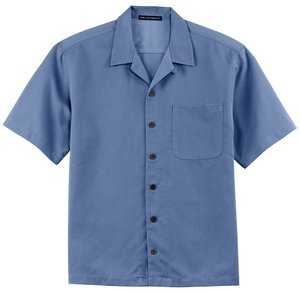 Sleeve Easy Care Camp Shirt - Blue, XL (Easy Care Camp Shirt)