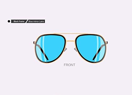 clásicas Gafas polarizadas sol de Polarizadas piloto de Gafas mujer Gris Azul Gafas Gafas sol aviador sol espejo mujer de Mujer Sol Espejo De 7nvtY67