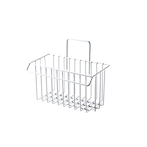 Ktyssp Wrought Iron Kitchen Rack Rag Drain Rack Home No Trace Sink Sink Basket Detergent Sponge Storage Rack (White)