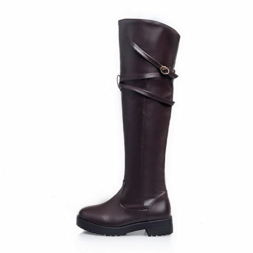 Materiaali Ympäri Korkeavartinen Selin Alhaisen Agoolar Toe Pehmeä Boots Suljetun Naisten Päälle Vedettävä Ruskea pXTTExqZw