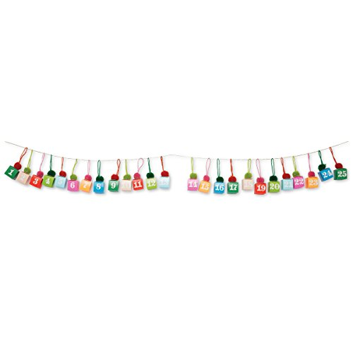 C.R. Gibson 3D Advent Calendar Garland -