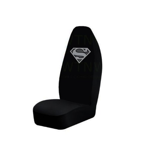 Superman Silver Logo Seat Cover (Superman Seat Covers For Cars compare prices)