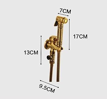 bid/é mano pulverizador para WC,Dorado Bid/é Conjunto completo de WC De mano del bid/é del rociador superior de cobre Pulverizador Shattaf