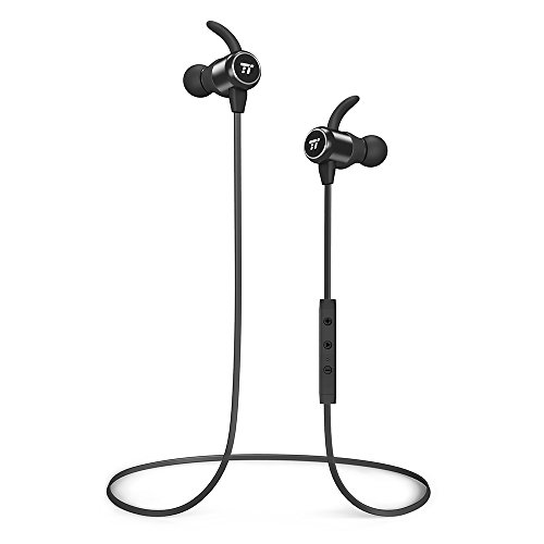 TaoTronics Bluetooth Headphones Wireless Earbuds Bluetooth 4.2 Sweatproof Earphones Magnetic Earbuds Snug Fit for Sports MEMS Mic 6 Hours Playtime by TaoTronics