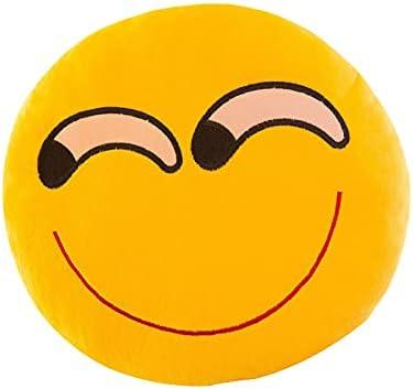 Creative Emoji Package Q Cute Plush Warm Cushion Round Pillow