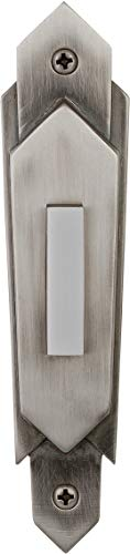 Craftmade PB3032-AP Designer Surface Mount Contemporary Lighted Doorbell LED Push Button, Antique Pewter (4.63