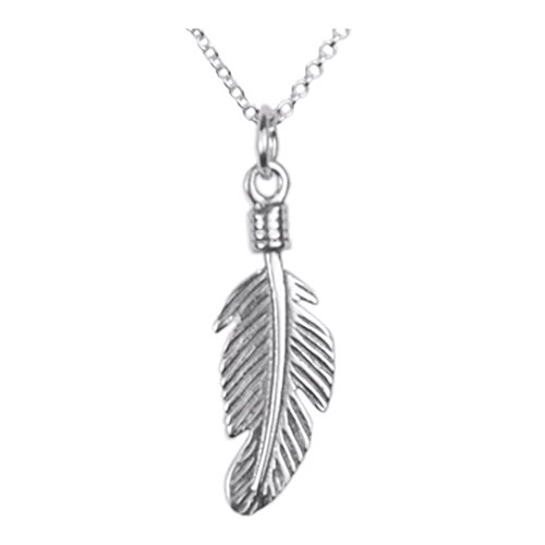 The Best 925 Sterling Silver 18 inch necklace with a Dreamcatcher Feather Pendant