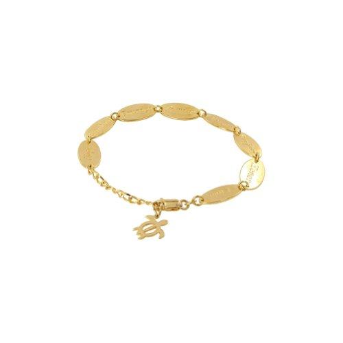 Gem Avenue Gold over Sterling Silver 10mm Adjustable Vermeil Turtle Charm - Vermeil Turtles