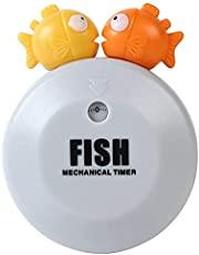 Zhiwei Cute Timers Mechanical Kitchen Cooking Timer, Cartoon Fish Shape Timer Mechanical Clockwork Home Kitchen Baking Reminder Timer, Refrigerator Stickers Time Management Kitchen Tools