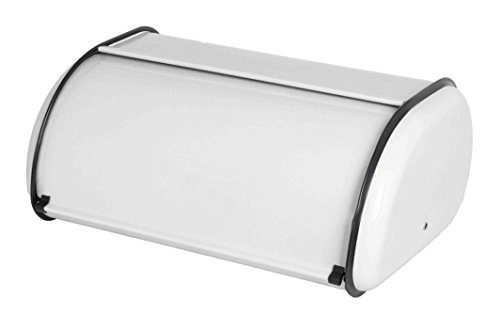 Home Basics Classic Stainless Steel Bread Box, White