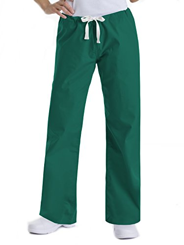 (Urbane Essentials 9502 Relaxed Drawstring Pant Hunter Green L )