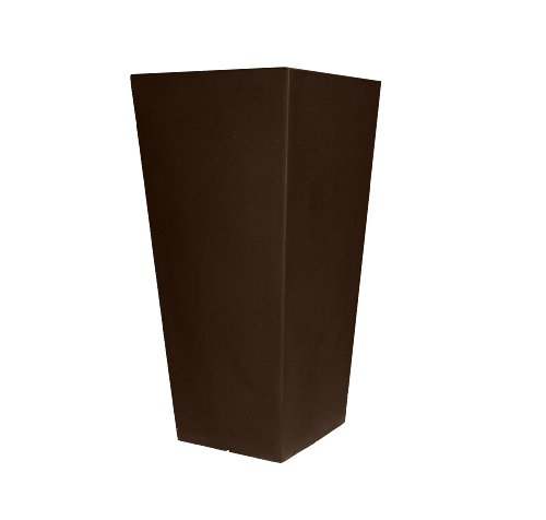 tusco-products-ctu26es-cosmopolitan-tall-square-garden-planter-26-inch-espresso