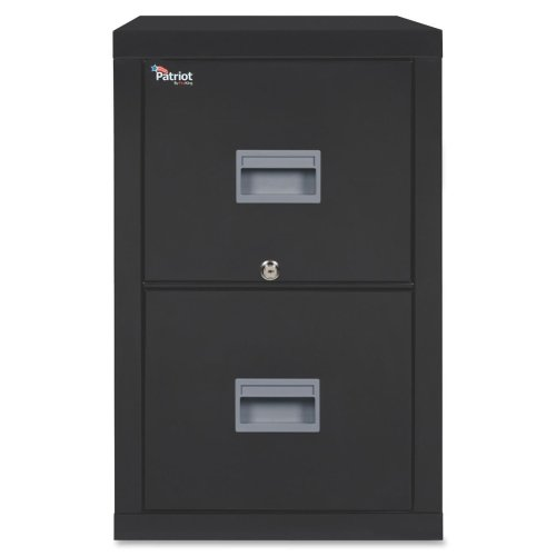 FireKing Patriot 2P1831-CBL Insulated UL Class 350 one-hour Fire Rated Vertical Filing Cabinet with 2 Drawers, Deep Letter Size, 31-9/16