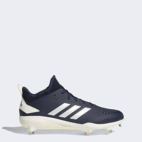 adidas Mens Adizero Afterburner V Baseball Shoe, Collegiate Navy/Cloud White/Black, 12 M US